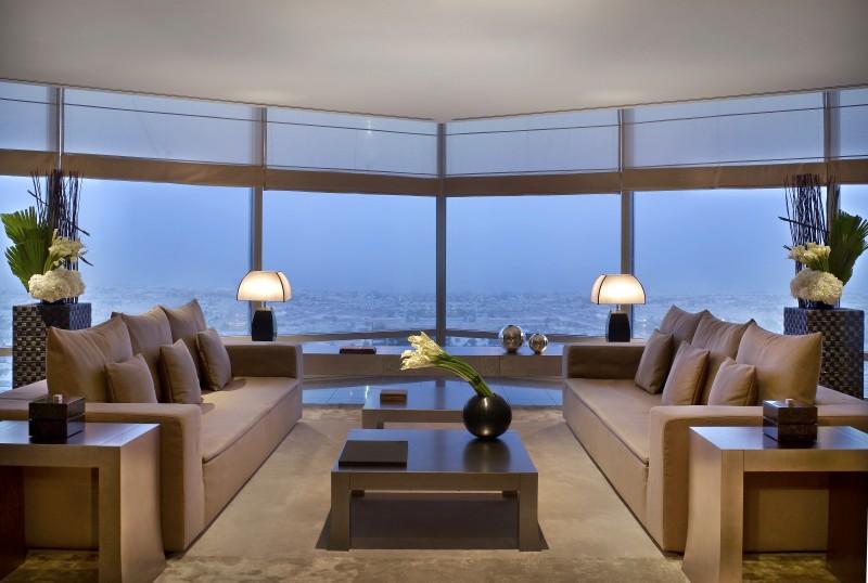 armani dubai suite - living room 2